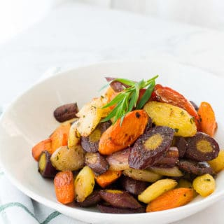 Sense & Edibility's Rainbow Carrots in Tarragon Brown Butter