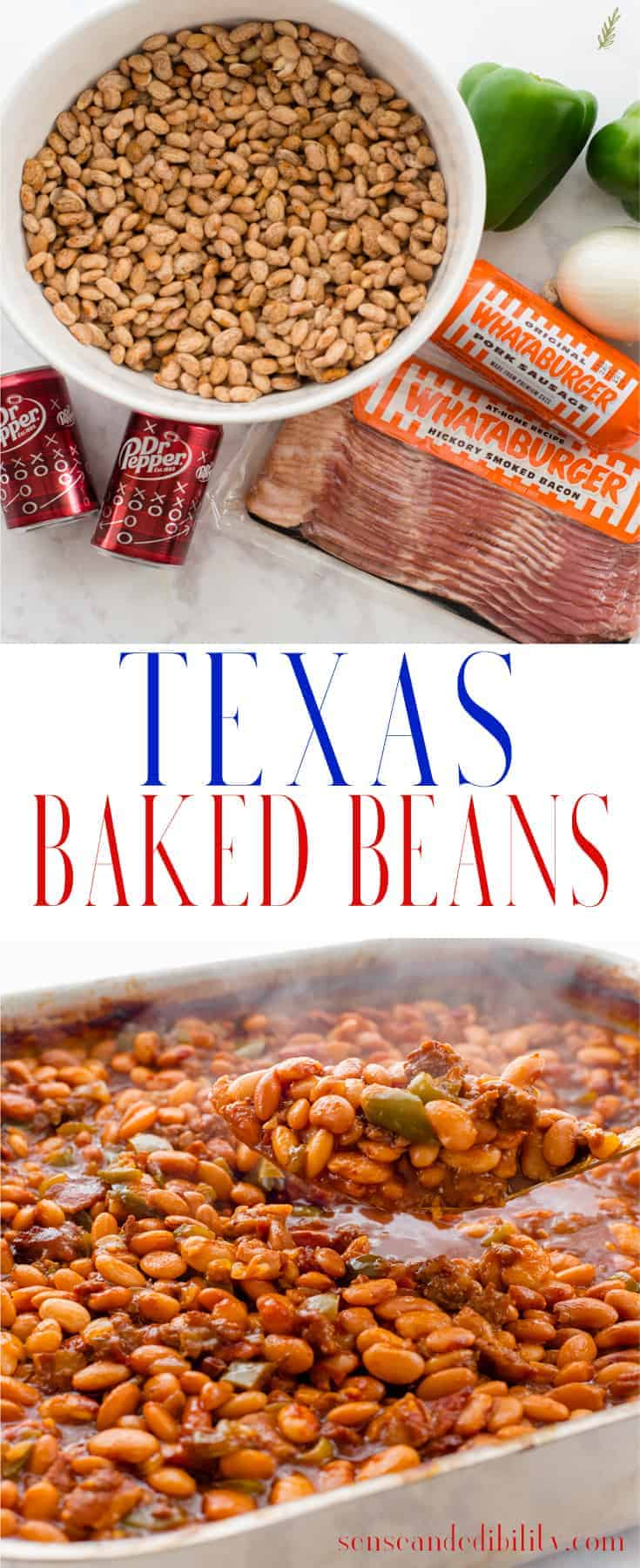 Sense & Edibility's Texas Baked Beans Pin
