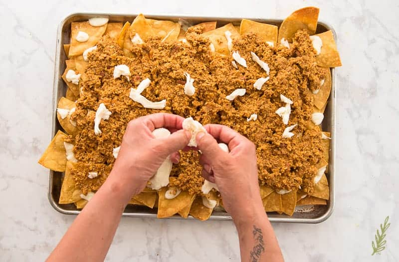 Sense & Edibility's Chorizo and Egg Breakfast Nachos