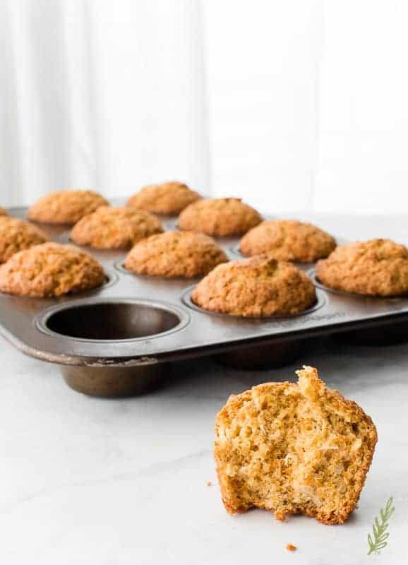 Sense & Edibility's Oatmeal Carrot Cake Muffins