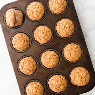 Oatmeal-Carrot Cake Muffins with (or without) Nuts