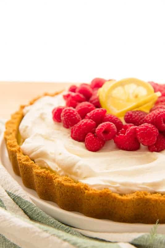 Side view of the Quick Lemon-Raspberry Tart