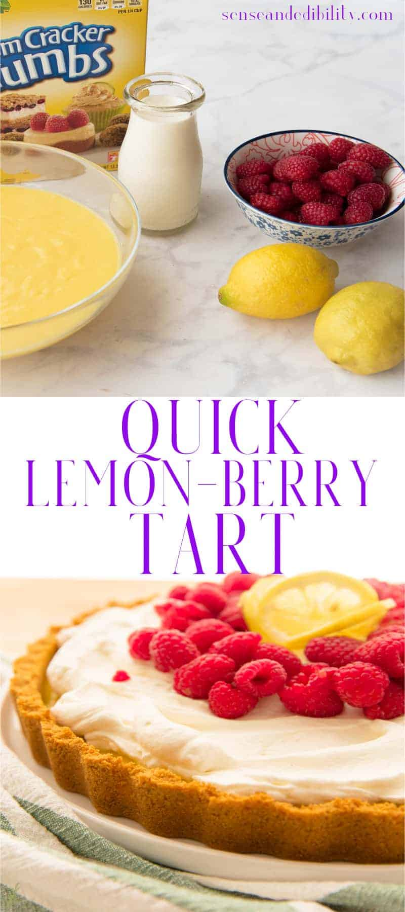 Sense & Edibility's Quick Lemon-Berry Tart Pin