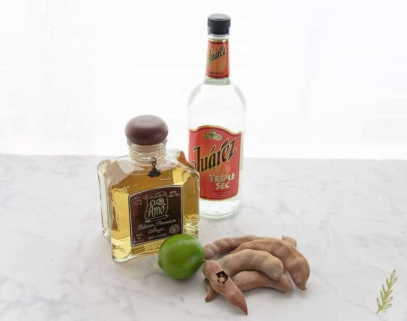 The ingredient for the Tamarind Añejo Margarita