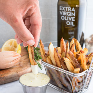 French Fries with Rosemary and Lemon Aioli