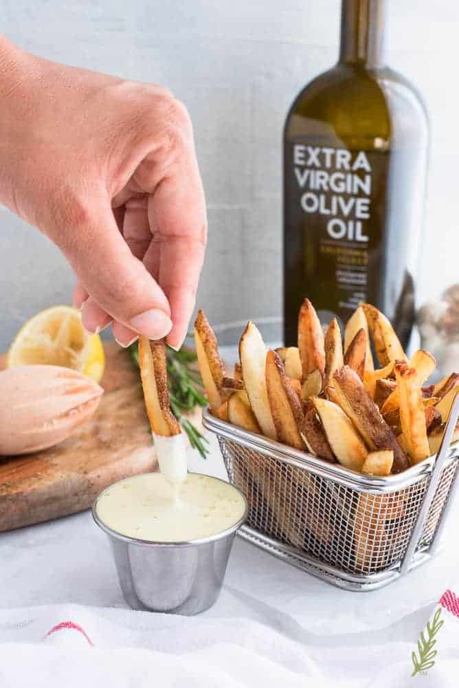 French Fries With Rosemary And Lemon Aioli Sense Edibility