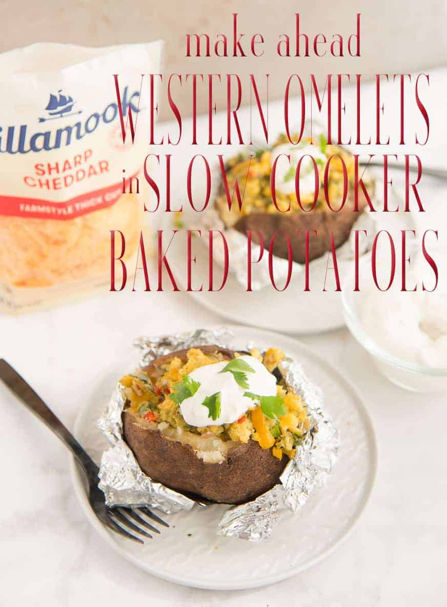 Make Ahead Western Omelets w SC Baked Potatoes Long Pin