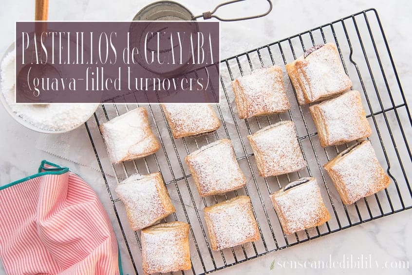 A cooling rack filled with Pastelillos de Guayaba