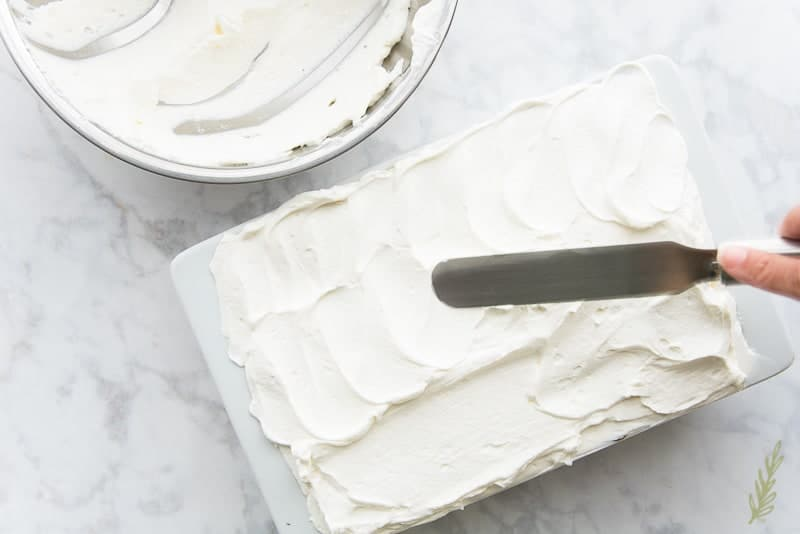 Spread on a generous amount of lightly sweetened whipped cream