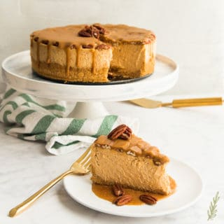Sweet Potato Cheesecake with Pecan Praline Topping
