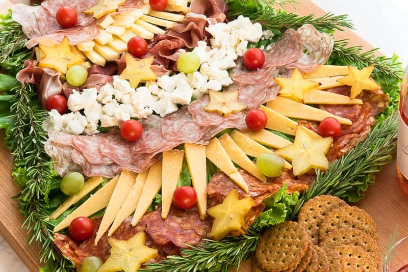 Serve a variety of spreads and dips with your Festive Charcuterie Board
