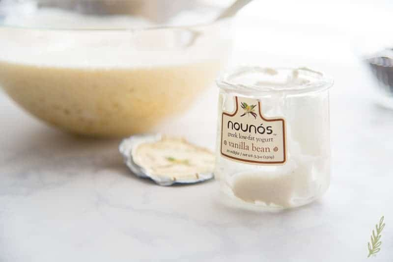 Use low-fat greek yogurt in place of oils.