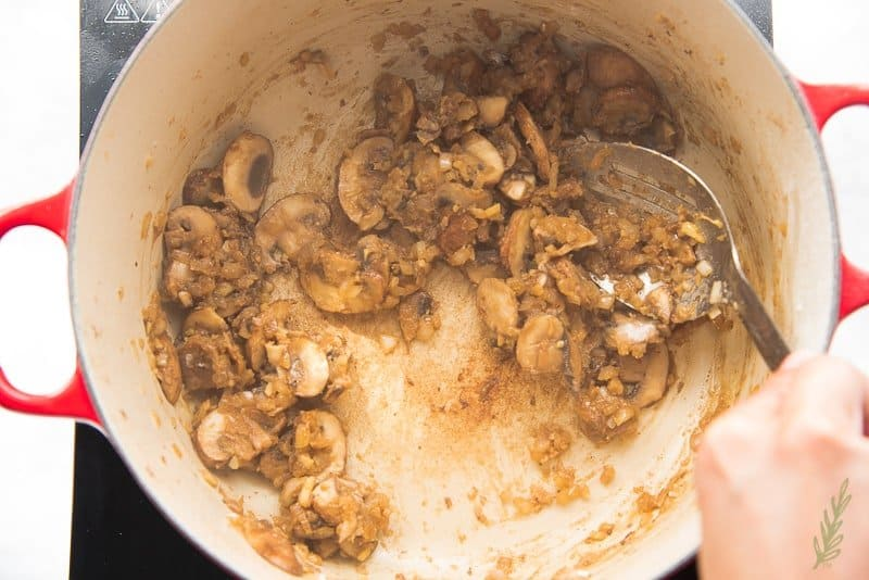 Cook the roux to a dark brown color