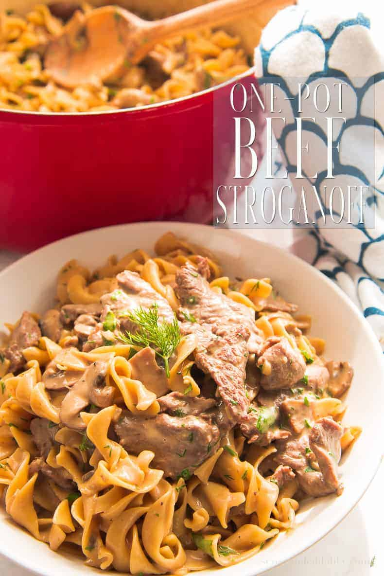 A One-Pot Beef Stroganoff makes dinner doable even after the hardest of days