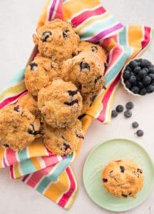 Sense & Edibility's Blueberry-Almond Streusel Muffins Lead Shot