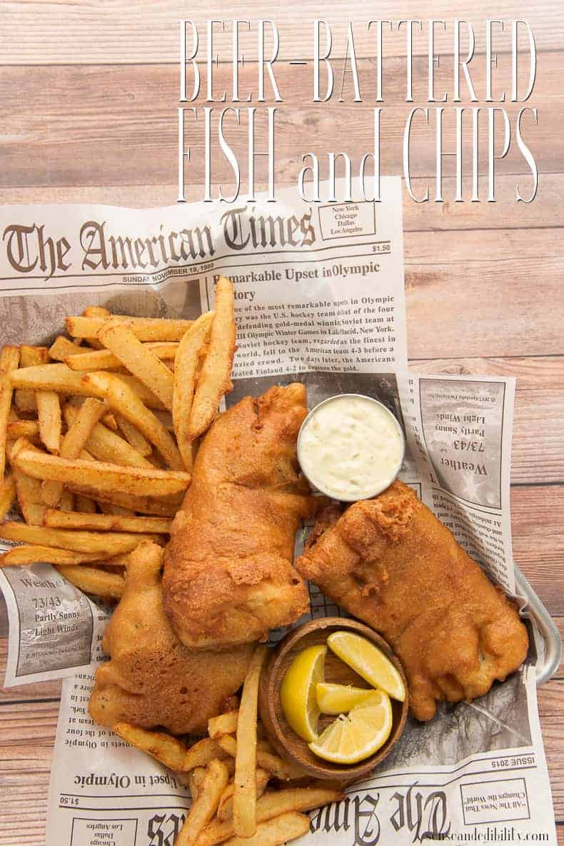 Beer-Battered Fish and Chips is more Irish than corned beef will ever be. Fry up a batch of beer-battered cod and crispy chips this St. Patrick's Day and keep it authentic. #fishandchips #StPatricksDay #seafood #friedfish #chips #senseandedibility #dinner