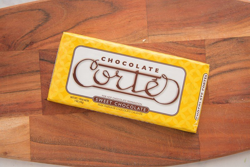 A wrapped bar of Chocolate Cortes