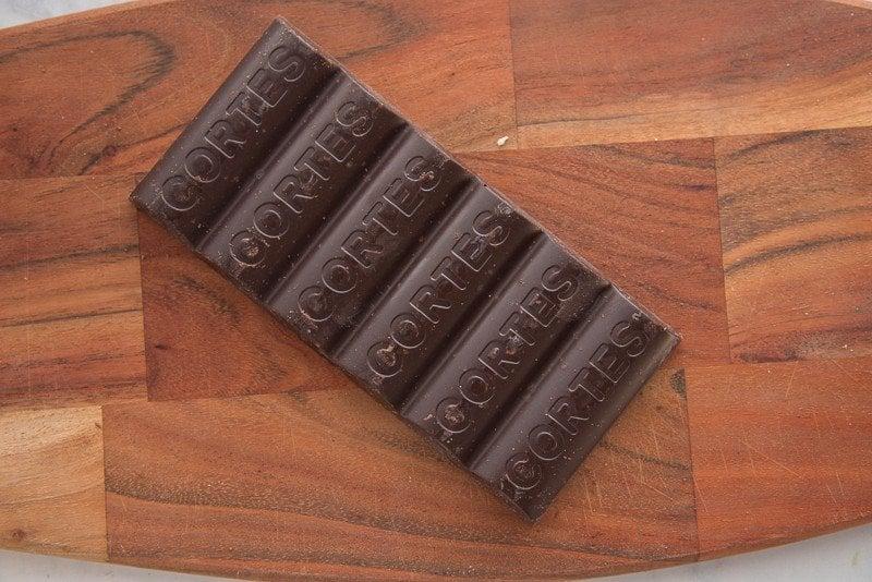 Chocolate Cortes bar is sweet chocolate