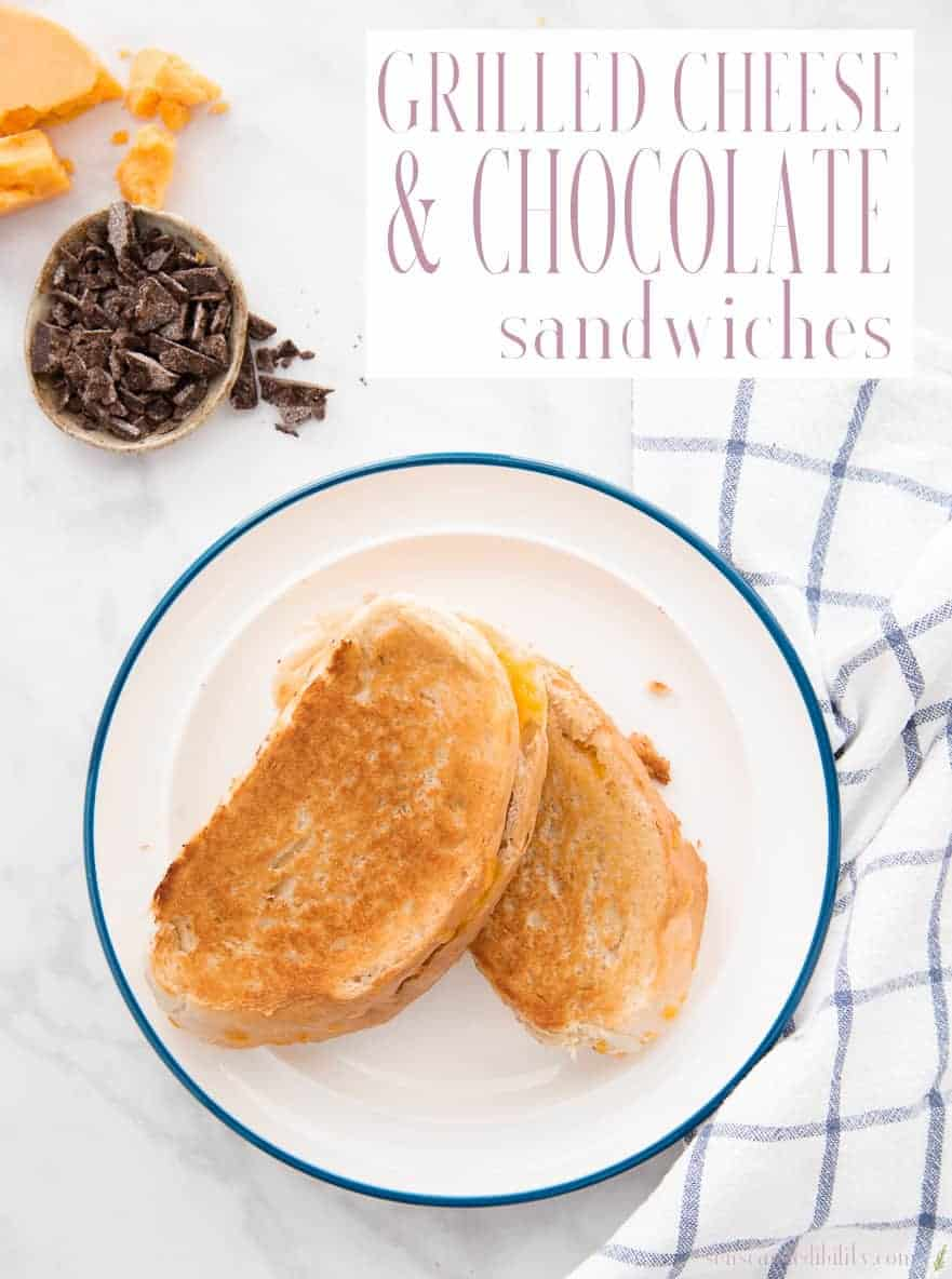 An edible twist on the classic way Puerto Ricans drink their hot chocolate. Chocolate and mild cheddar are melted until gooey between sweet Pan Sobao. #grilledcheese #chocolateandcheese #sandwich #lunch #kidfriendly #grilledcheesecandchocolate #senseandedibility #foodblog via @ediblesense