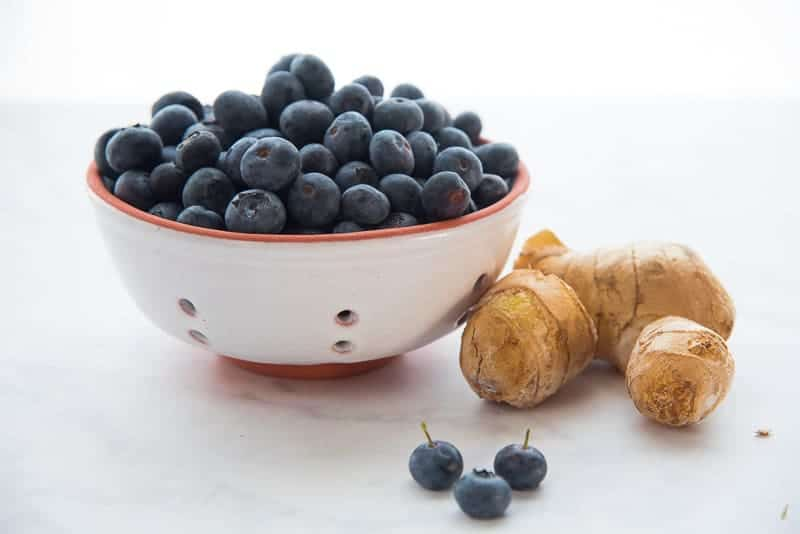 The ingredient needed to make Blueberry Ginger Dessert Topping