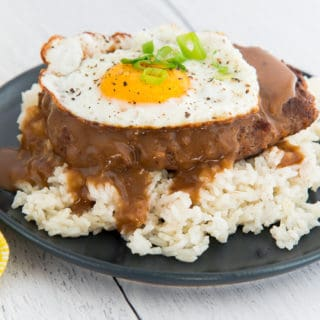 Loco Moco (Hawaiian Beef Patty with Gravy)
