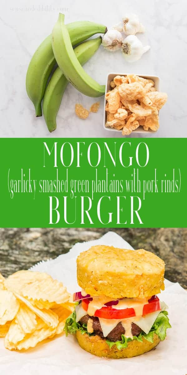 Mofongo Burgers combine classic Puerto Rican and U.S. foods to create an amazing sandwich. Swap out burger buns for garlicky mofongo and lunch is ready! #mofongo #hamburger #cheeseburger #platano #platanoverde #chicharrón #PuertoRican #boricua #comidcriolla #burgers #grill #grilledburgers #lunch #dinner #cookout #nuyorican #hamburguesa #cuchifrito #chinchorro via @ediblesense