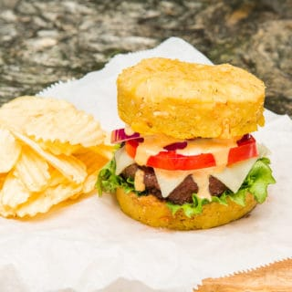 Mofongo Burgers (Burgers on Mashed Plantain Buns)