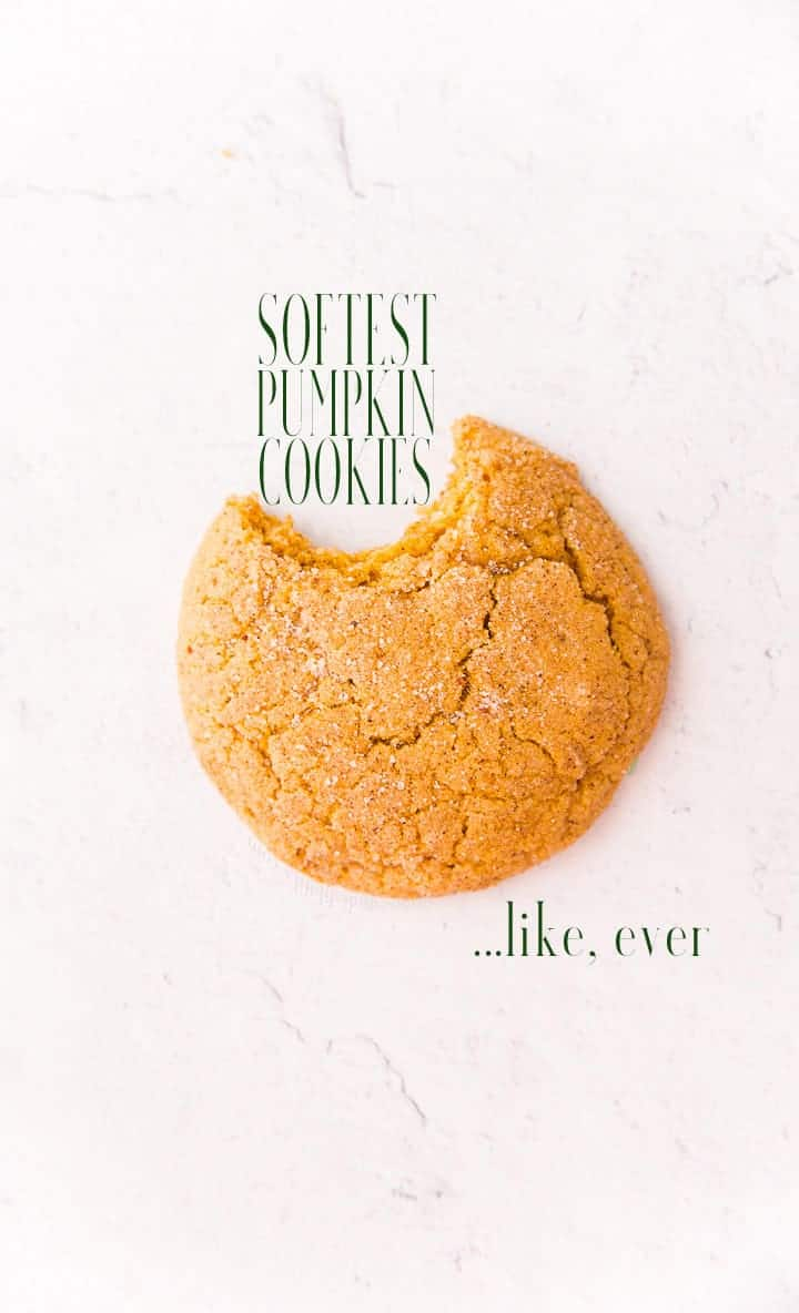 Soft Pumpkin Cookies are literal clouds of spiced pumpkin goodness. You won't find a softer pumpkin cookie this side of November. Freezer-friendly and addictive. #pumpkincookies #pumpkinspice #pumpkin #cookies #baking #holidaybaking #bakingfortheholidays #holidaycookierecipes #pumpkinsnickerdoodles #cinnamonsugar #pumpkinpiespice #madefromscratch #bakedcookies #kidfriendly #easyrecipes  via @ediblesense