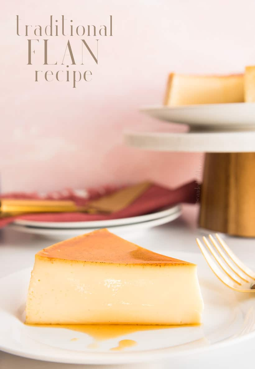 Flan is a straightforward, easy-to-make, sweet egg custard topped a caramel sauce made of two simple ingredients. Discover for yourself why all of Latin America loves this dessert. #flan #postre #dessert #LatinAmericandessert #receta #custard #eggcustard #cremecaramel #sweets #recetadepostre #recetadeflan #flanes #flandevainilla #eggs #caramel #baking #baked #bakeddessert #bainmarie #vanilla #sugarcaramel #flanrecipe #traditionalflan #thanksgiving #christmas #newyears #recetasnavidades via @ediblesense
