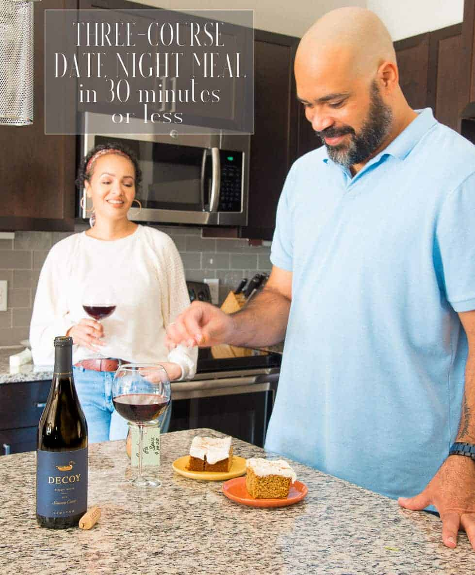 Date night at home complete with a three-course meal in 30 minutes or less? With #DecoyLimited and me, the answer is yes! Don't worry about shoes, reservations, or babysitters, find Decoy Limited in stores via the Decoy wine finder: clvr.li/dwf and tuck in for a romantic evening at home. #ad #elevatewithdecoy #decoywines #wine #balcony #datenight #datenightathome #quickmeal #dinner #romanticdinner #dateyourspouse #wineanddine #surfandturf #datenightin #diningin #stayathome #dateathome via @ediblesense