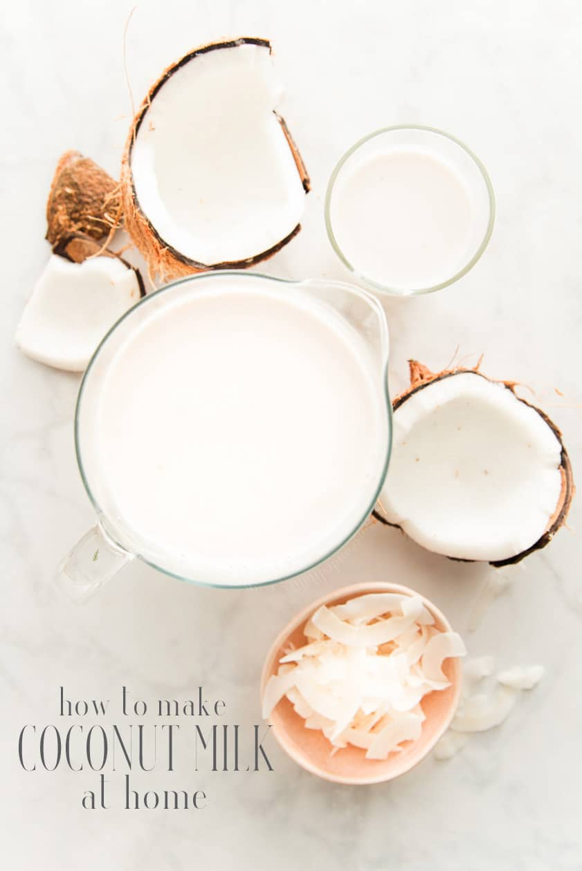 Let me teach you how to make Coconut Milk from scratch at home. It's easier than you think, completely dairy free and vegan, too. Grab your coconuts and let's get cracking! #coconutmilk #coconut #milk #dairyfree #vegan #vegetarian #howtomake #makeathome #diy #nutmilk #milkalternatives #coconutmilkathome #lactosefreemilk #coconutmilkfromscratch #coconutmilkrecipe #milkrecipe #freshcoconut via @ediblesense
