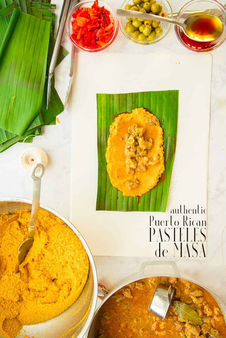 Pasteles are a beloved holiday tradition in the Puerto Rican culture. Similar to tamales, these meat-filled patties are made with green bananas and boiled in banana leaves. Prepare weeks or months ahead and freeze for later. #pasteles #pastelesdePuertoRico #pastelesdenavidades #thanksgivingrecipes #recetasdePuertoRico #PuertoRicanrecipes #comidacriolla #PuertoRicanpasteles #pastelesdemasa #pastelesdecerdo #pastelesdeguineo #greenbanana #pastelesdepollo Christmasrecipes #holidayrecipes via @ediblesense