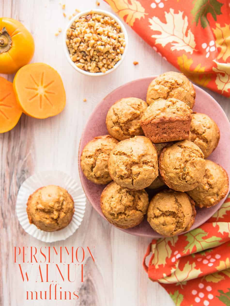 Make the most of persimmon season with these spice Persimmon-Walnut Muffins. Easy to make and even easier to enjoy! #persimmon #fuyupersimmon #walnut #persimmonbaking #persimmonrecipe #bakingwithwalnuts #bakingwithnuts #bakingwithpersimmon #persimmonwalnut #muffinrecipe #baking #muffins #uniquemuffinrecipes #fallbaking #breakfast #brunch #quickbread via @ediblesense