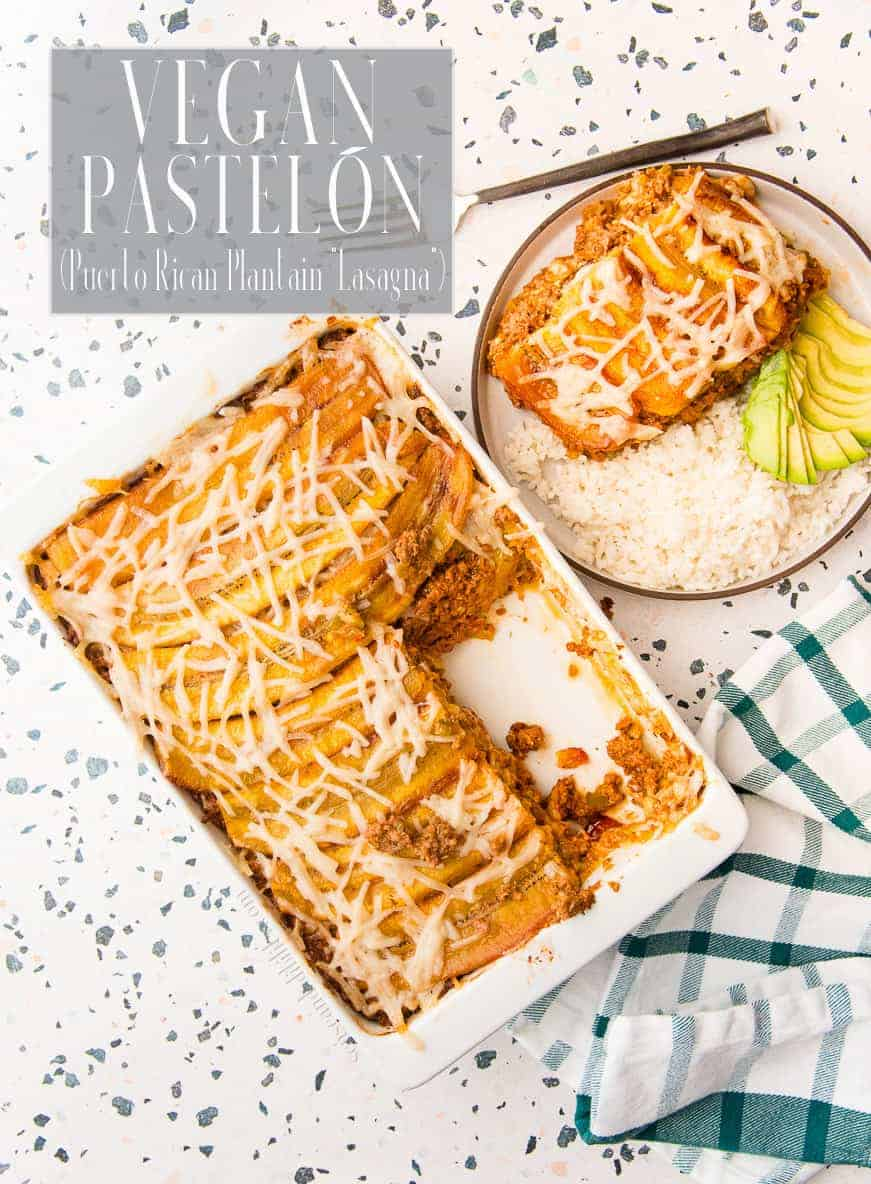 Make your favorite Puerto Rican comfort dish completely vegan with this easy-to-follow Vegan Pastelón. This Puerto Rican Sweet Plantain Lasagna taste just like the original. #pastelón #pastelon #pinon #plantain #maduros #platanomaduro #impossibleburger #daiyacheese #vegan #vegetarian #meatless #PuertoRican #comidacriolla #dinner #casserole #comfortfood  via @ediblesense