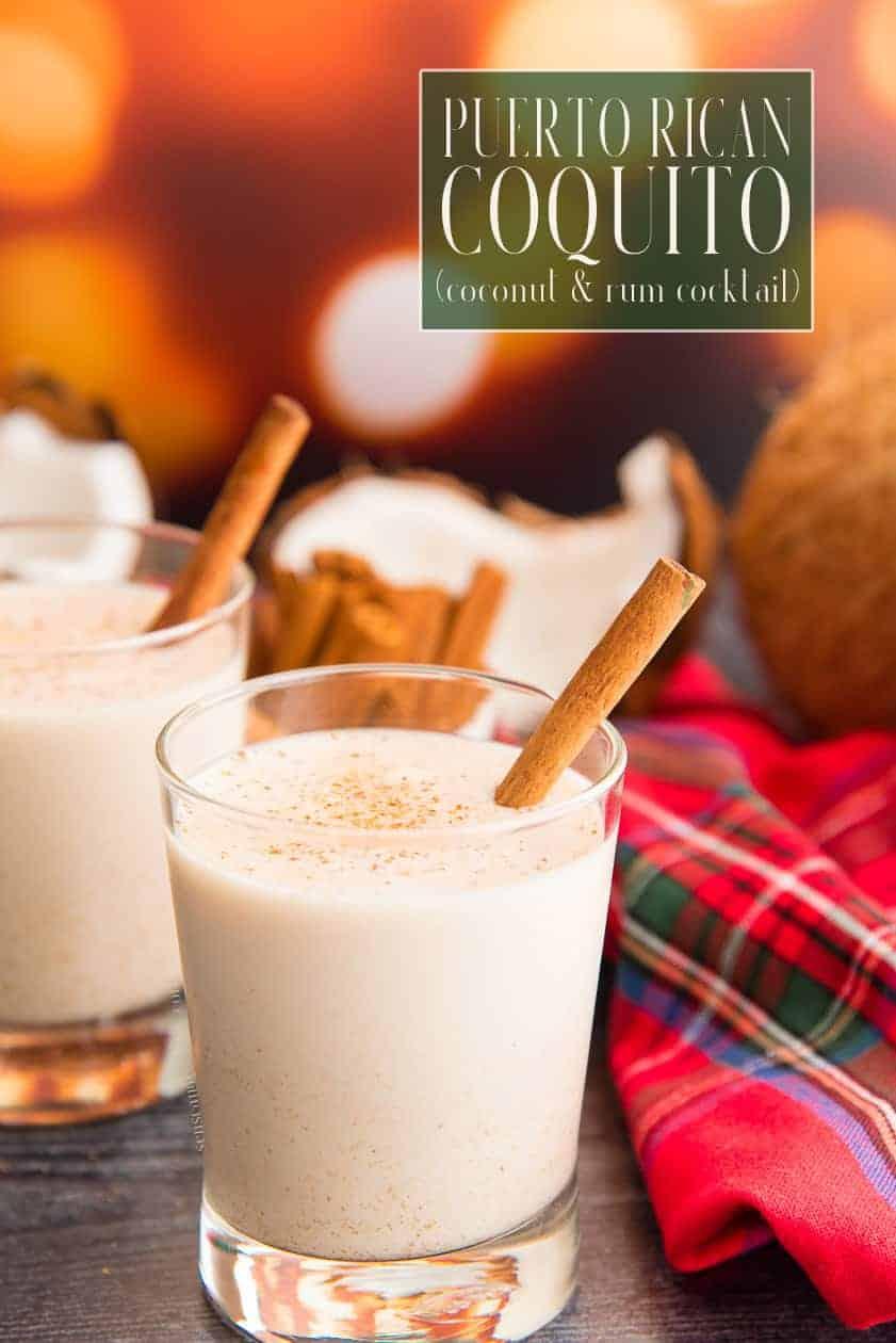 Coquito is a holiday tradition. Similar to eggnog, it's made with coconut, rum, and cinnamon. Add eggs for a creamier version. Virgin and vegan recipes included! #coquito #coquitopuertorriqueño #PuertoRicancoquito #coconut #rum #coconutrum #Bacardi #DonQ #navidades #navideño #recetadecoquito #eggnog #coconuteggnog #vegancocktail #vegancoquito #virgincoquito #dairyfreecoquito #egglessnog #ponche #ponchenavideño via @ediblesense