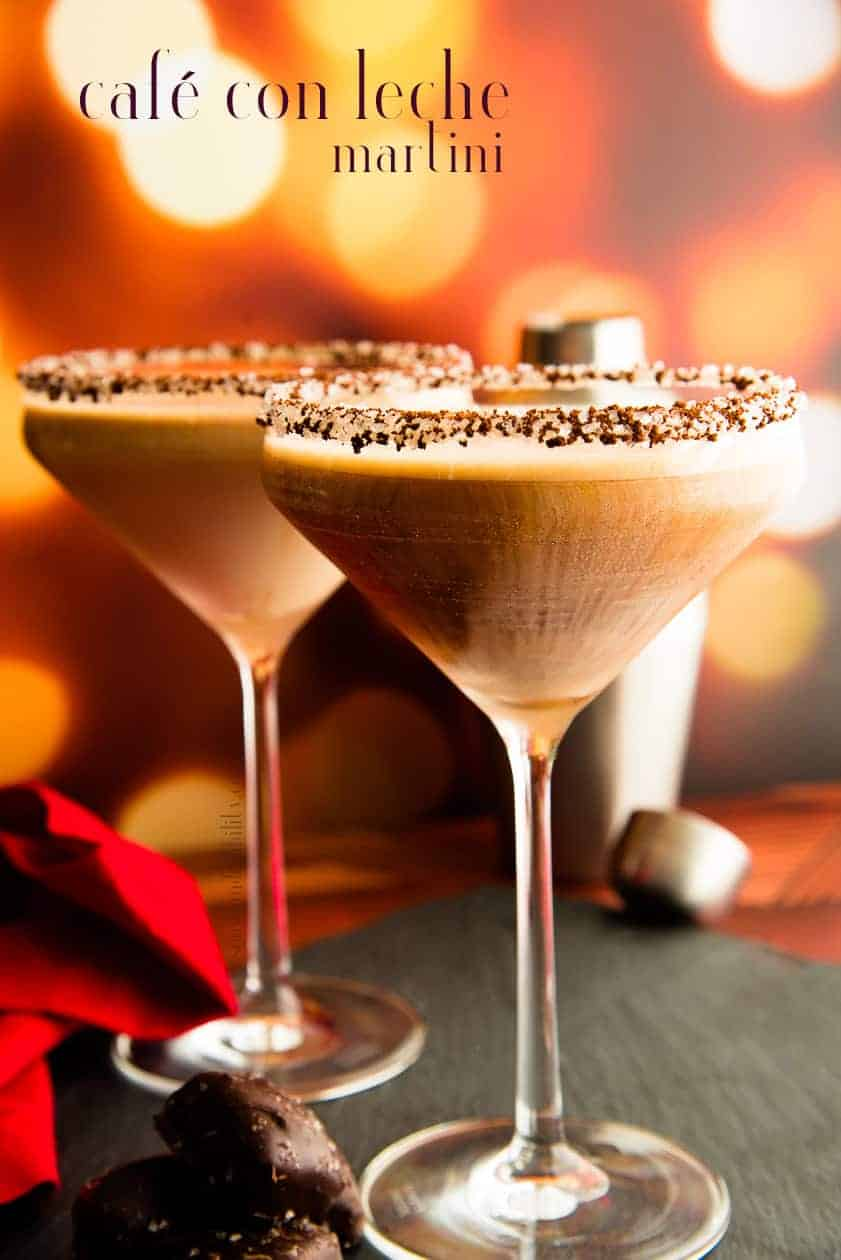Café con Leche Martinis are the cocktail to toast with. Bold espresso shaken together with vodka, Kahlua and dark rum to create a sophisticated libation. #cafeconleche #martini #vodkamartini #cocktail #mixology #classiccoktails #shakenmartini #vodka #rum #kahlua #espressococktail #espressomartini #libation #21andover #celebrationdrinks #drinkstotoastwith #holidayrecipes #drinkrecipes #alcohol   via @ediblesense