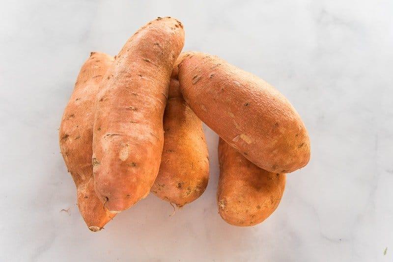 ingredients needed for sweet potato puree: sweet potatoes