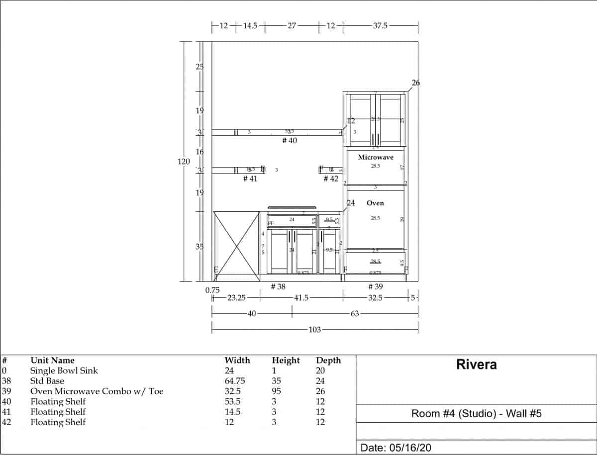 Cabinet design blueprints