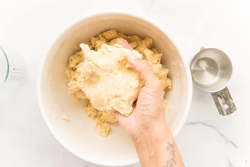 Hand pie dough ceramic white bowl