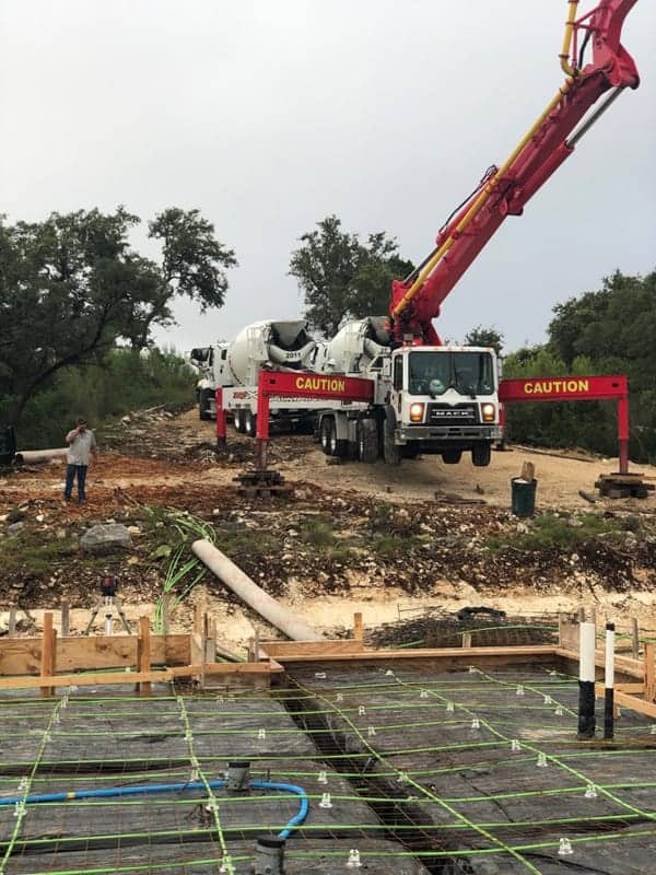 Foundation being poured for a new home