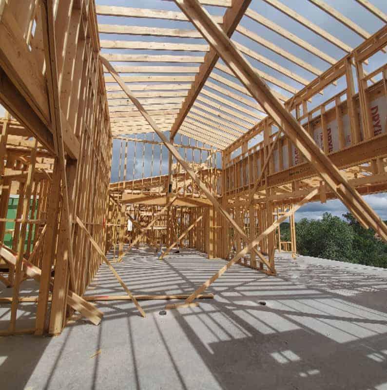 Interior Framing and Building of a custom home